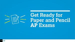 Get Ready for Paper Pencil Exams