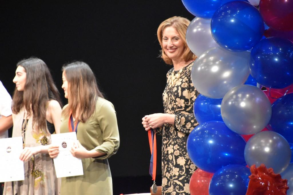 Mrs Shay at the senior awards