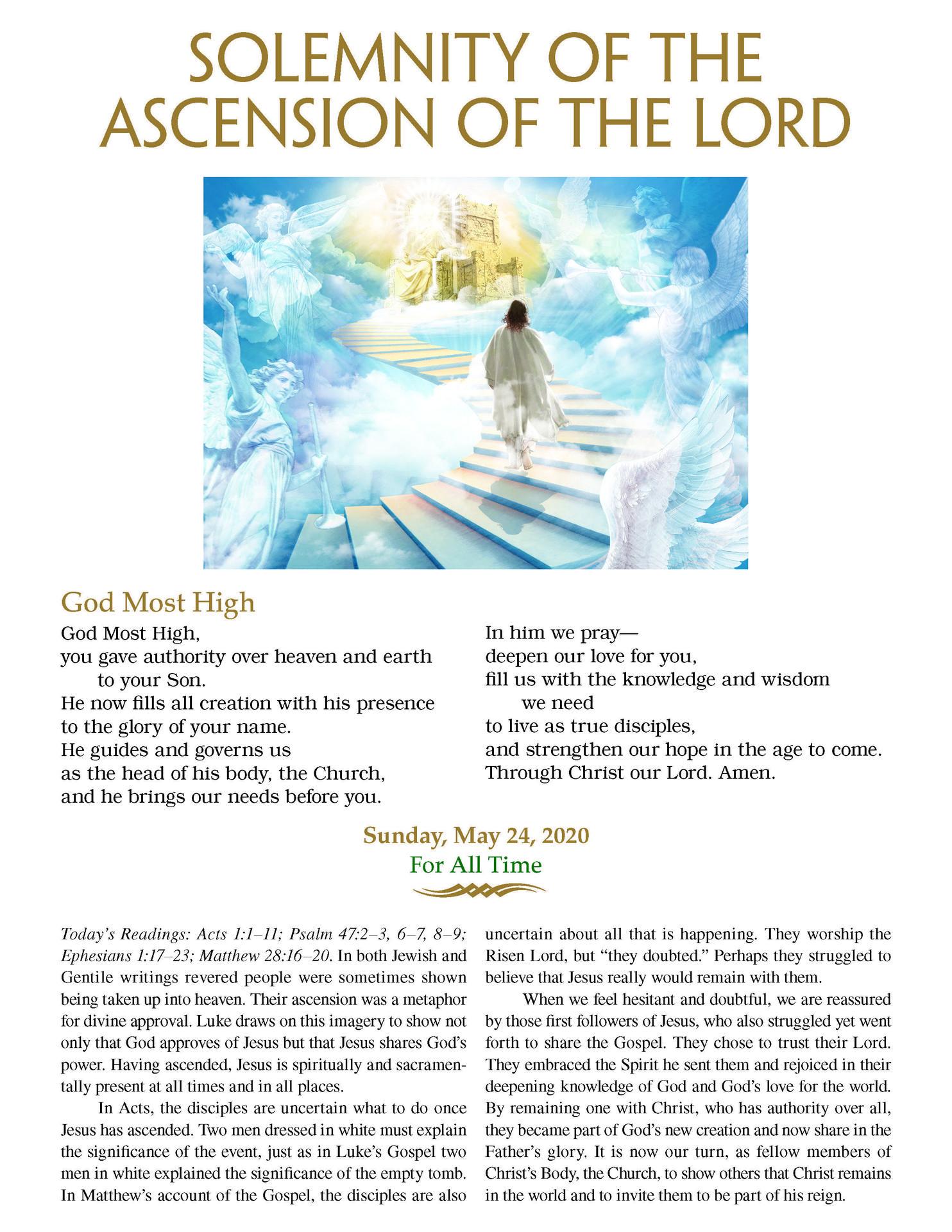 May 24-Ascension
