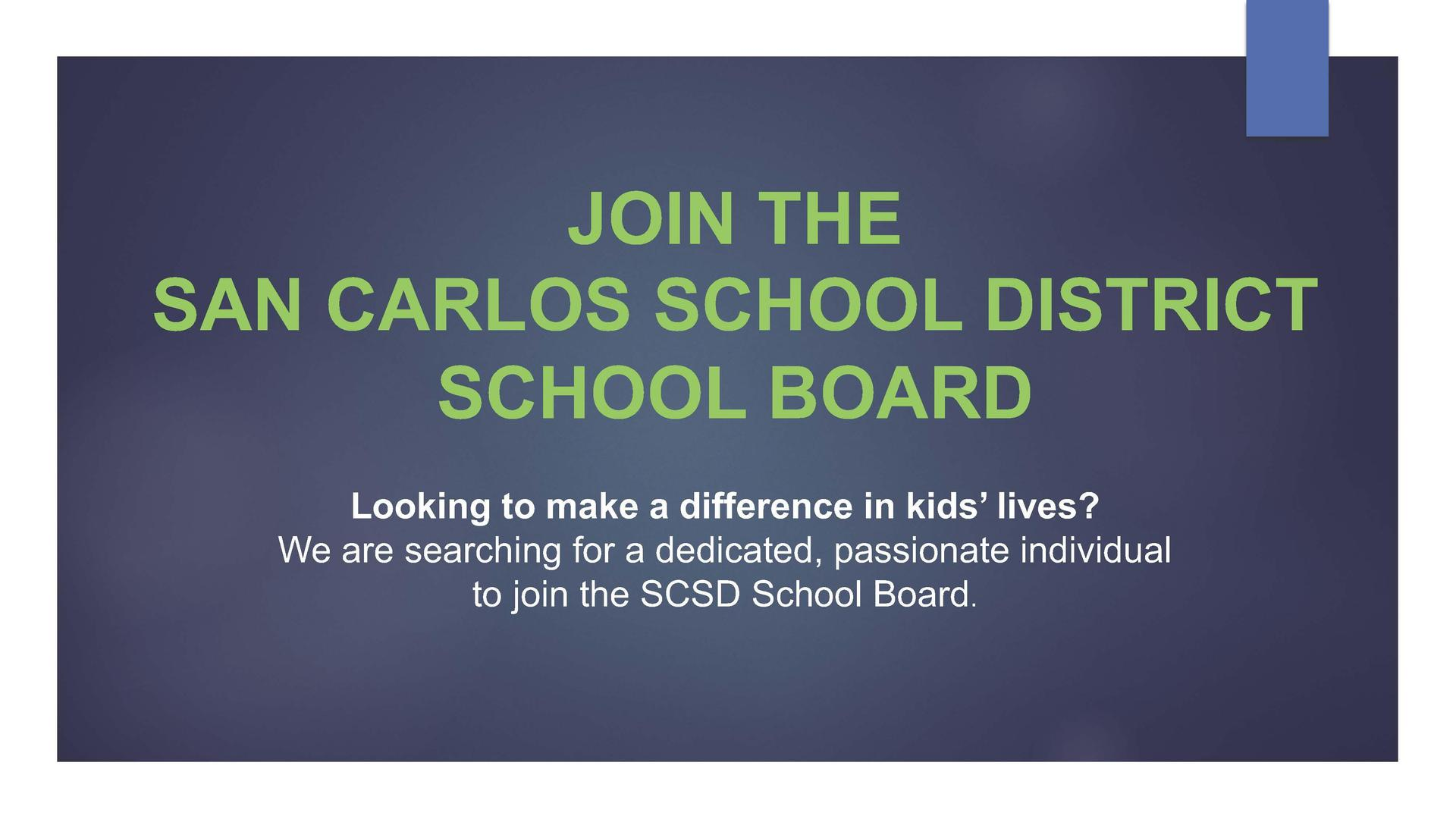 Join SCSD School Board Add
