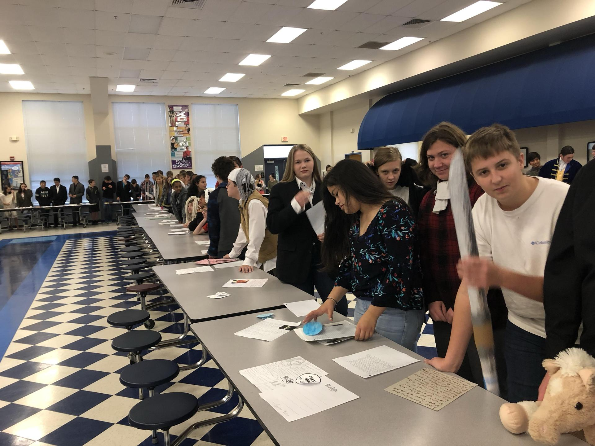 8th grade wax museum