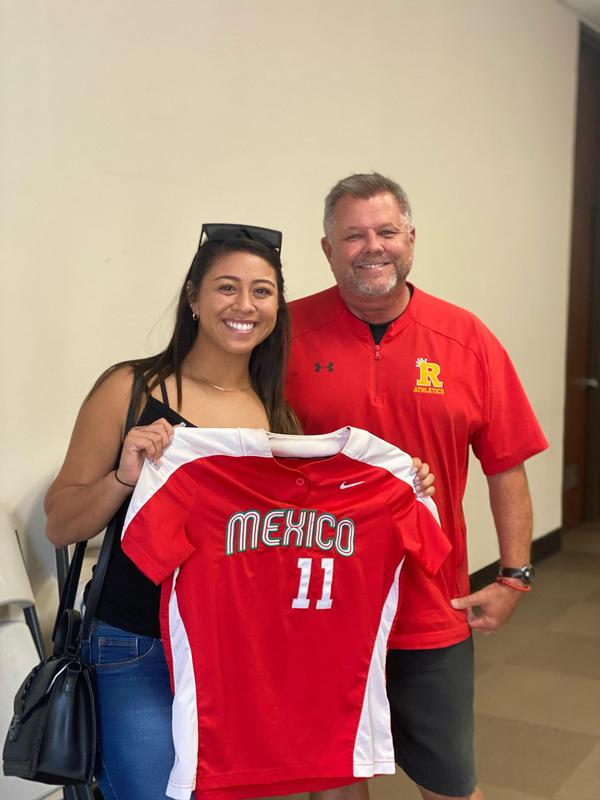 Chelsea Gonzales Mexico Jersey with Coach Tom Tice.jpg