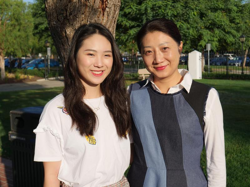 Connie Zhao and her mother