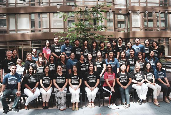 Group portrait of faculty & staff of HudsonWay Immersion School