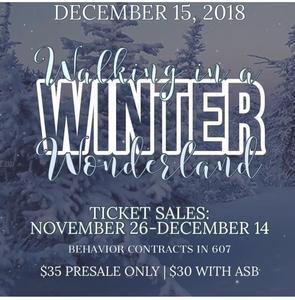 Winter ball ticket flyer