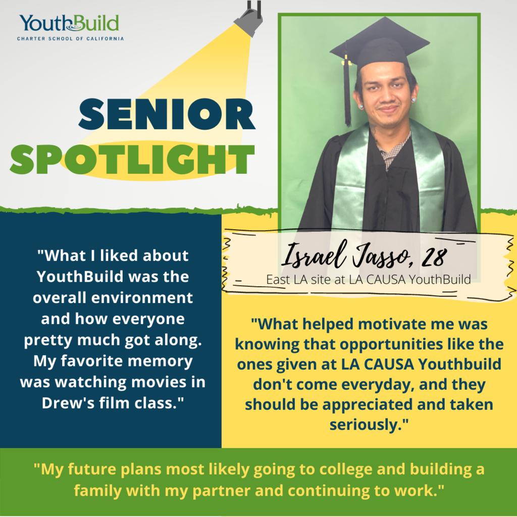 Senior Spotlight for graduate Israel Jasso