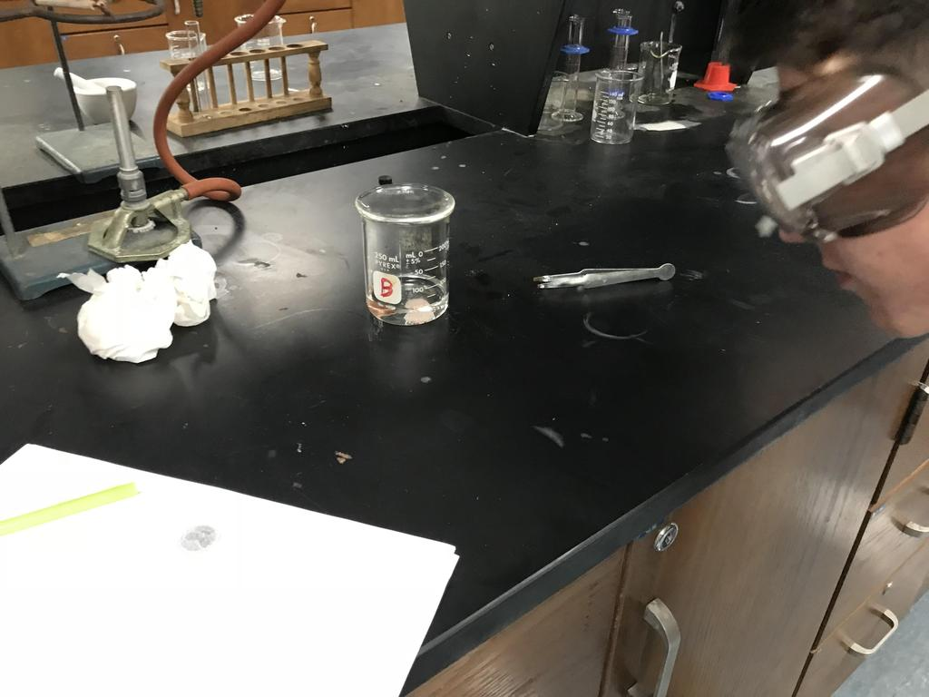 Students in Chem Lab - Penny - Hydrochloric Acid Experiment