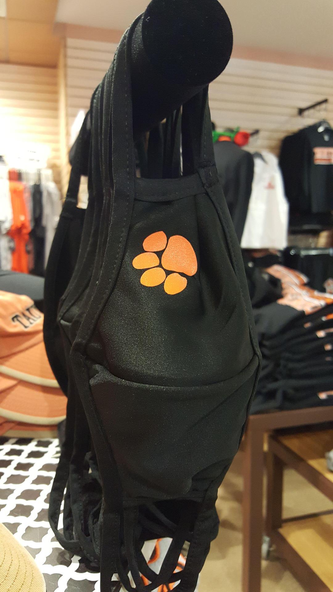 $12.00   Black Mask w/  Orange Tiger Paw  SM/MED  Large/XL