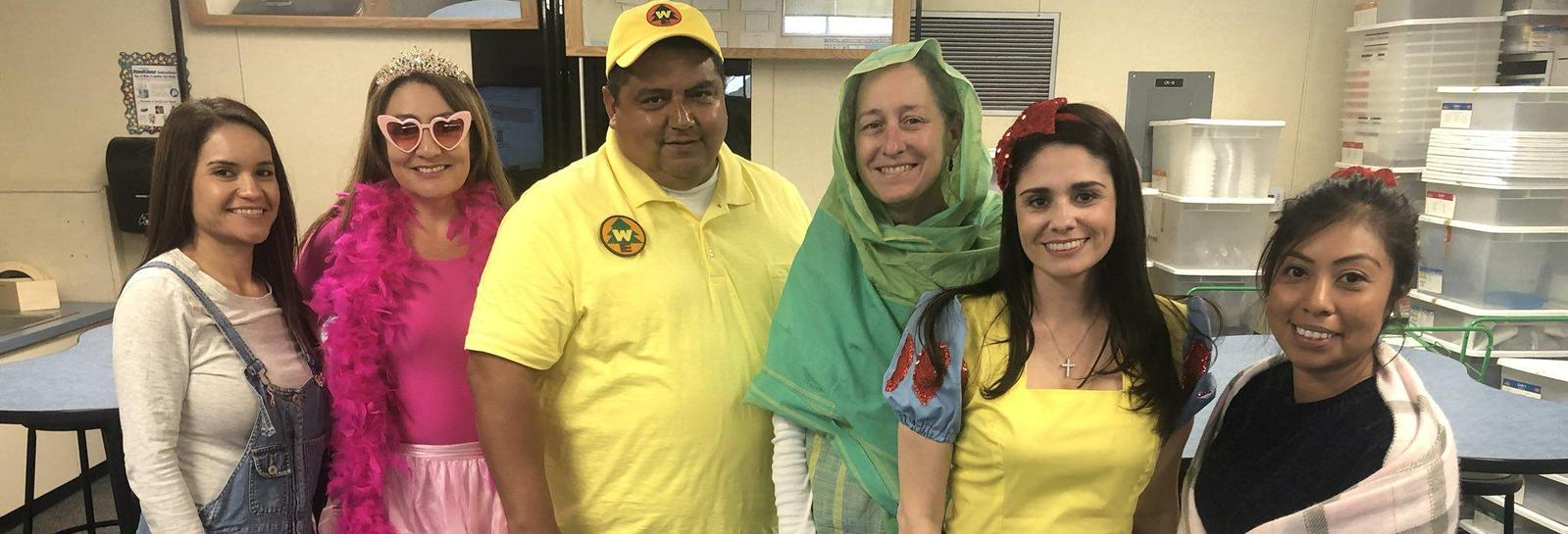 Montvue staff dressed up as their favorite characters!