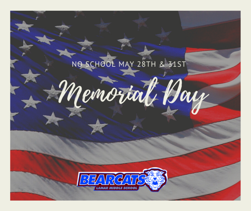 Memorial Holidays- No school 5/28 & 5/31 Featured Photo