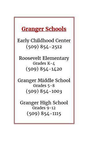 Granger school phone numbers