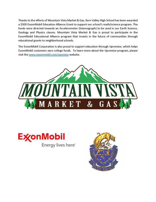 KVHS receives ExxonMobil Education Alliance Grant! Thumbnail Image