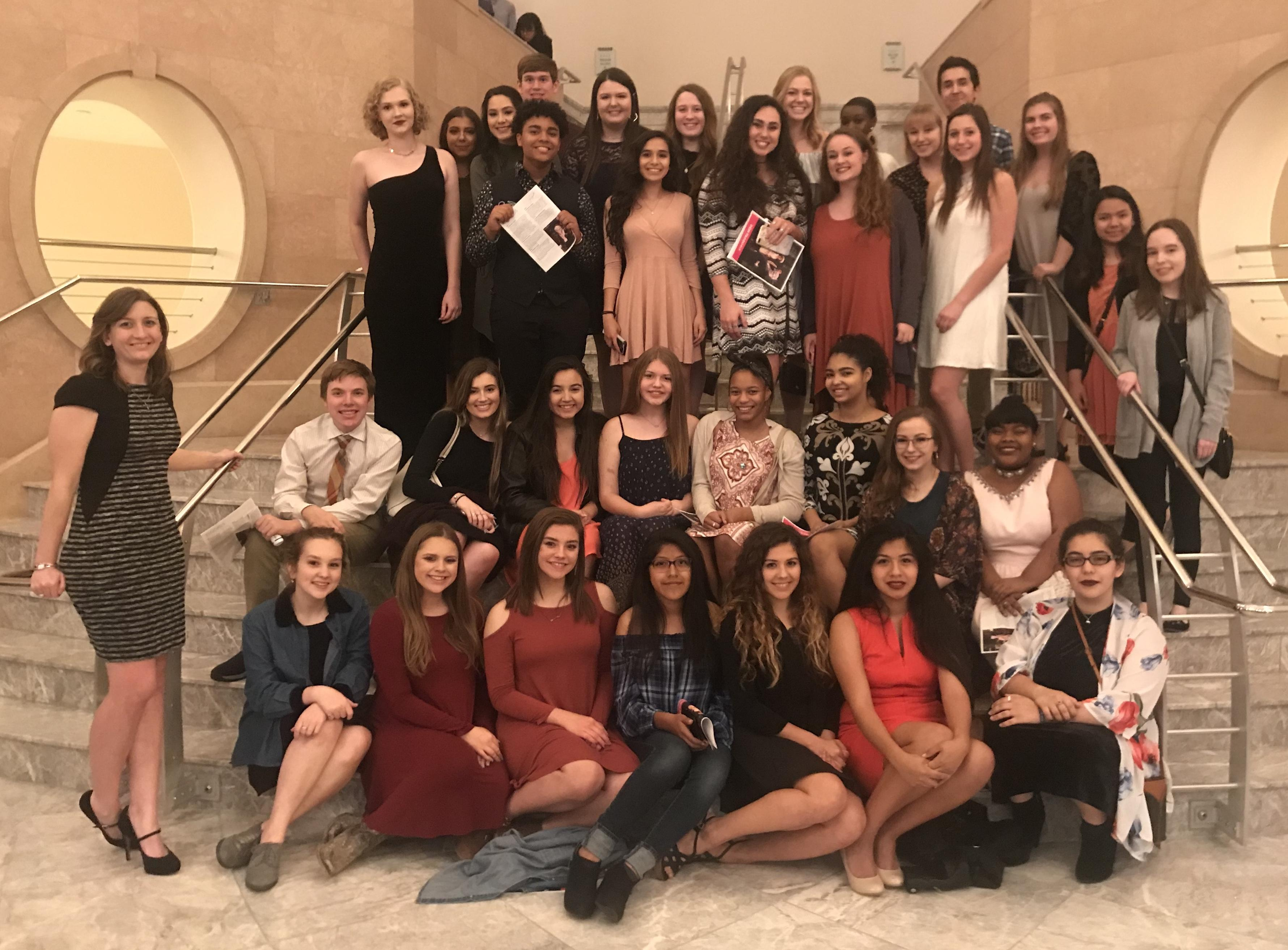 "Brewer High School students in the Think Big program for the top 30 seniors as well as students in the school's fine arts students had the opportunity to attend the opera ""Don Pasquale"" at Bass Performance Hall."