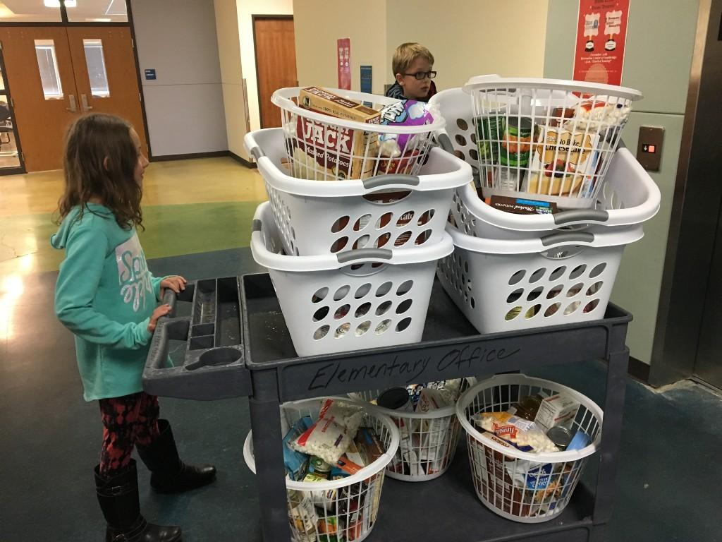 Packing baskets for those in need