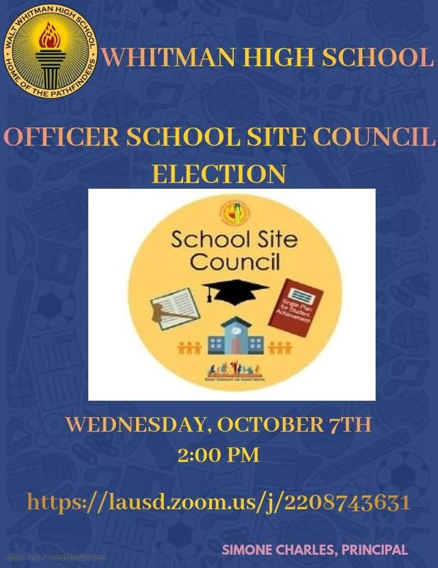 SCHOOL SITE COUNCIL MEETING - OFFICER ELECTIONS Featured Photo
