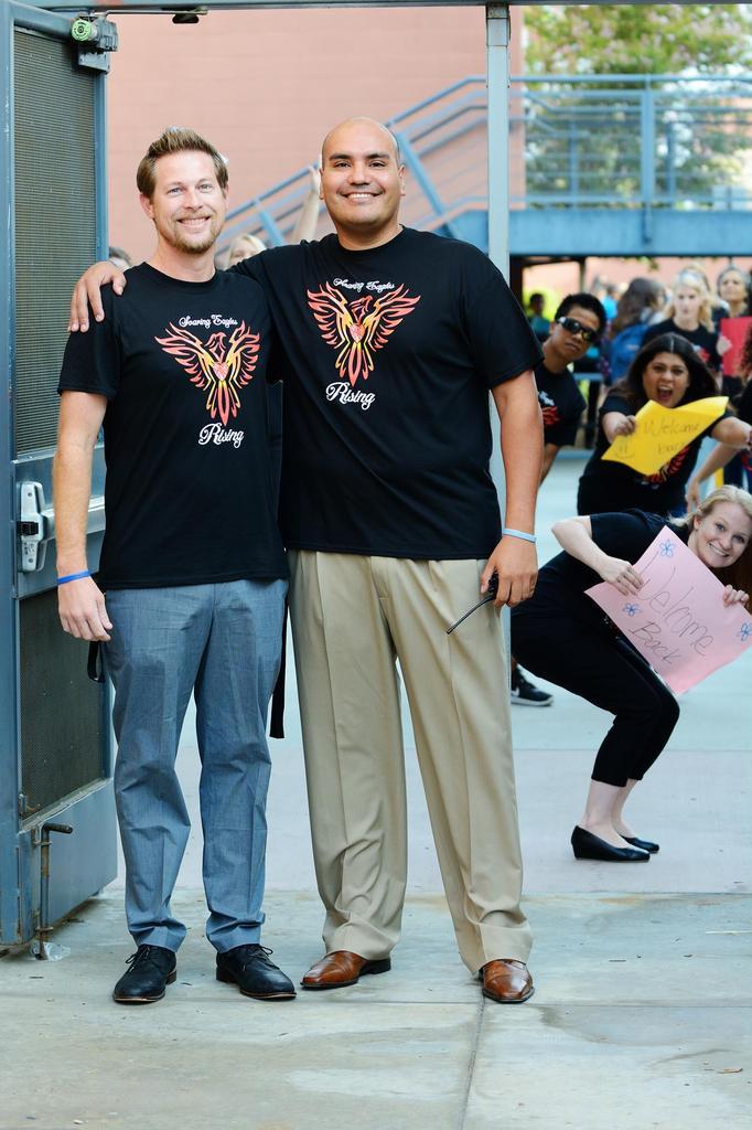 Valadez's new AP, Mr. Frank and new Principal, Mr. Gracian