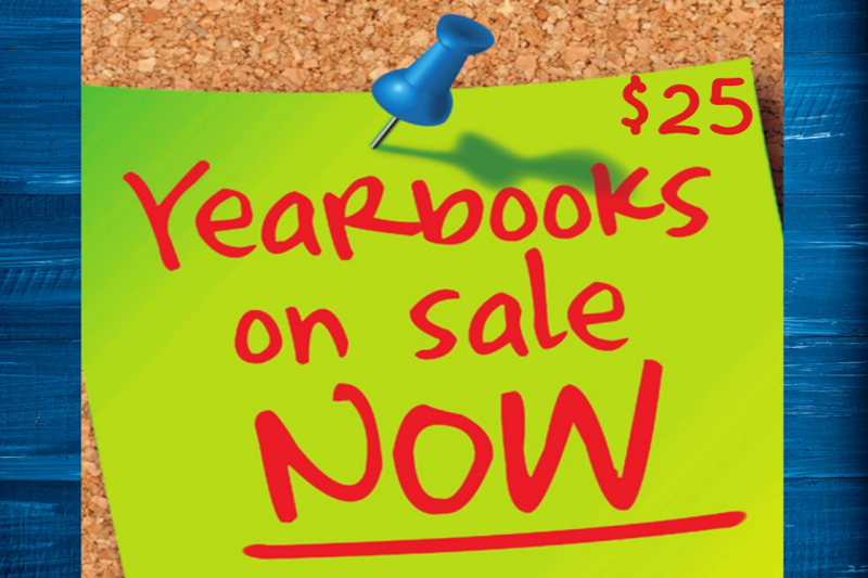 Yearbooks on sale now for $25