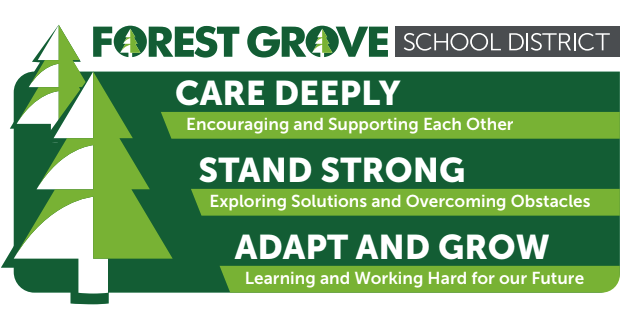 Strategic Plan graphic: 1. Care deeply 2. Stand strong 3. Adapt and Grow