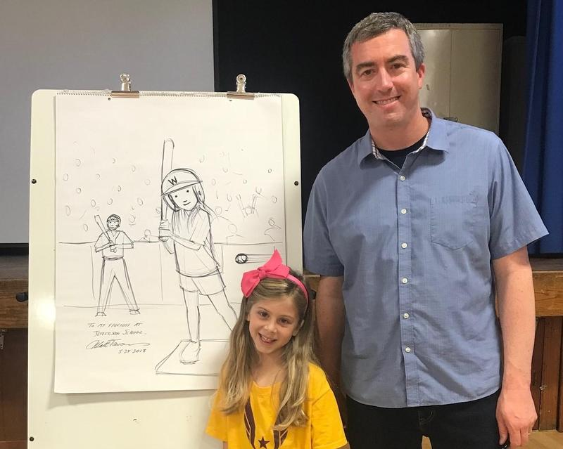 The Jefferson School PTO in Westfield recently hosted author/illustrator Matt Tavares whose children's book titles include
