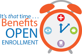 Open Enrollment Time Sept. 9, 2019 through Oct. 4, 2019