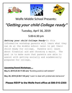Getting your child College Ready Meeting Information