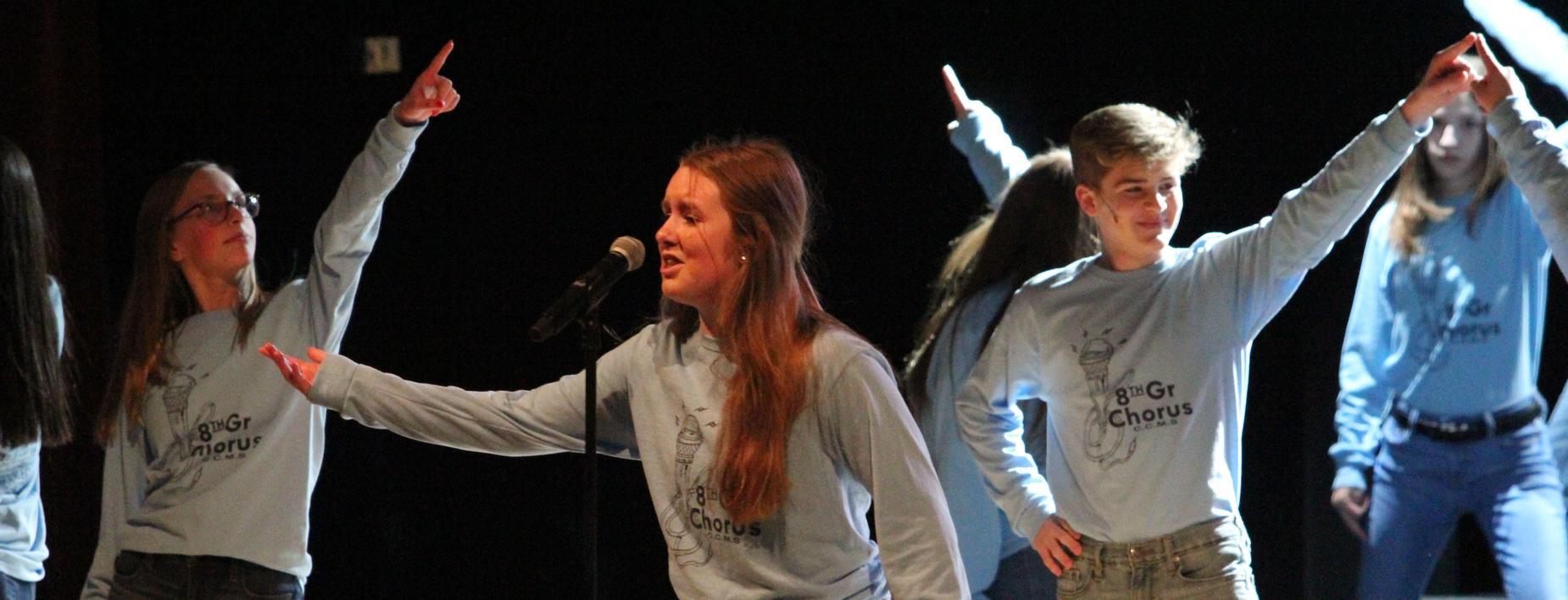 chorus concert with 8th grade