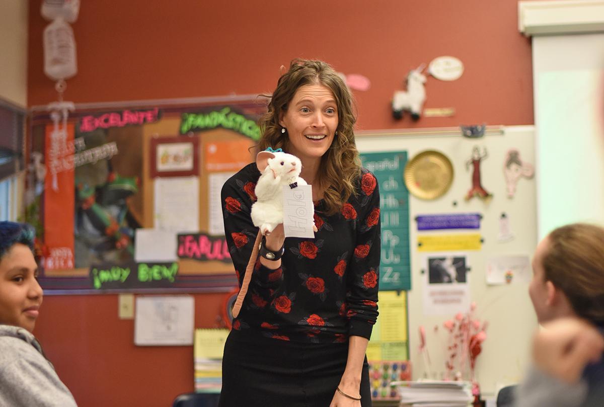 Ms. Bambi Otero in class
