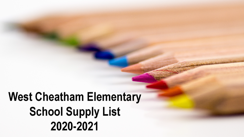 WCES School Supply List Featured Photo
