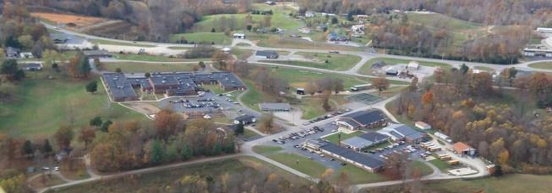 Aerial view of Pickett County Schools