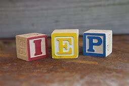 Blocks with the letters I, E, and P