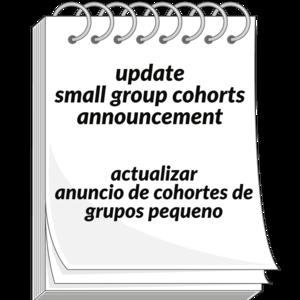 Update for cohort image
