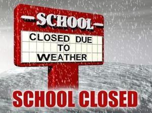 School closed Tuesday, January 29, 2019, due to hazardous weather.