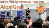 Vaping Prevention Tour with Alex Gray, Professional Sufer