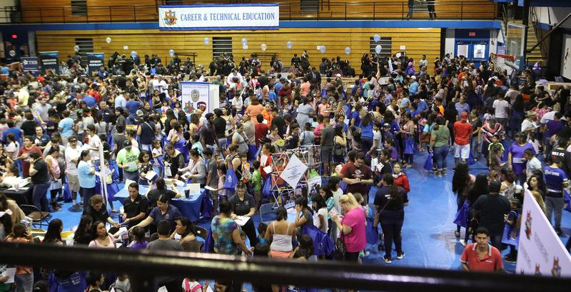 Edinburg CISD Back to School Bash draws more than 12,000 students and their families to the community-wide event, which was held on Aug. 12 at the South Middle School gymnasium in Edinburg.