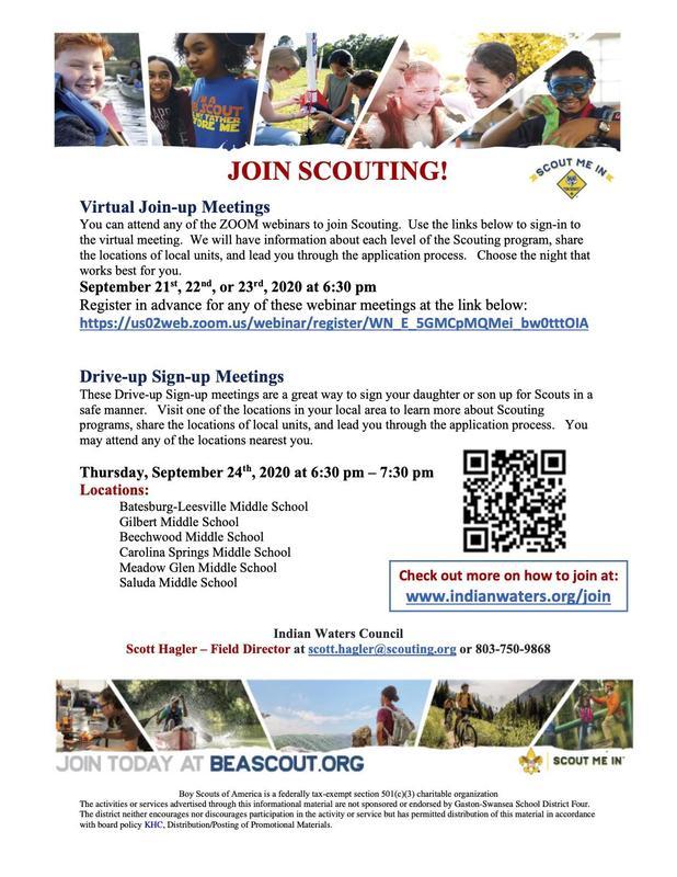 Scouting Informational meetings