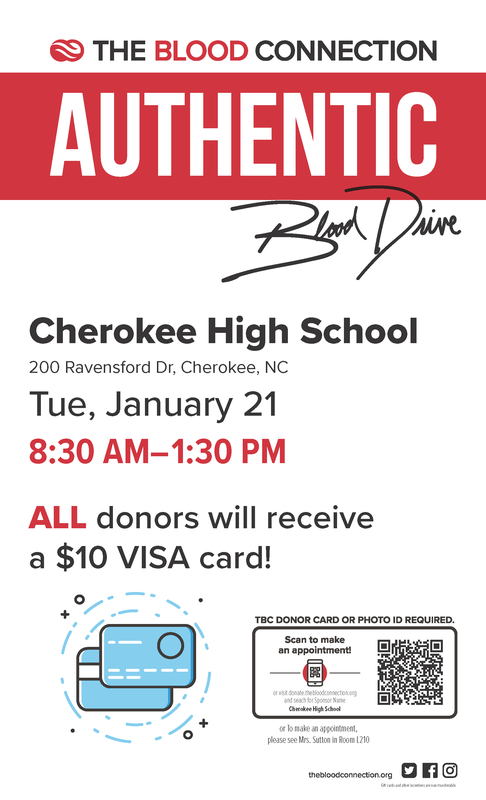 2020 Blood Drive flyer