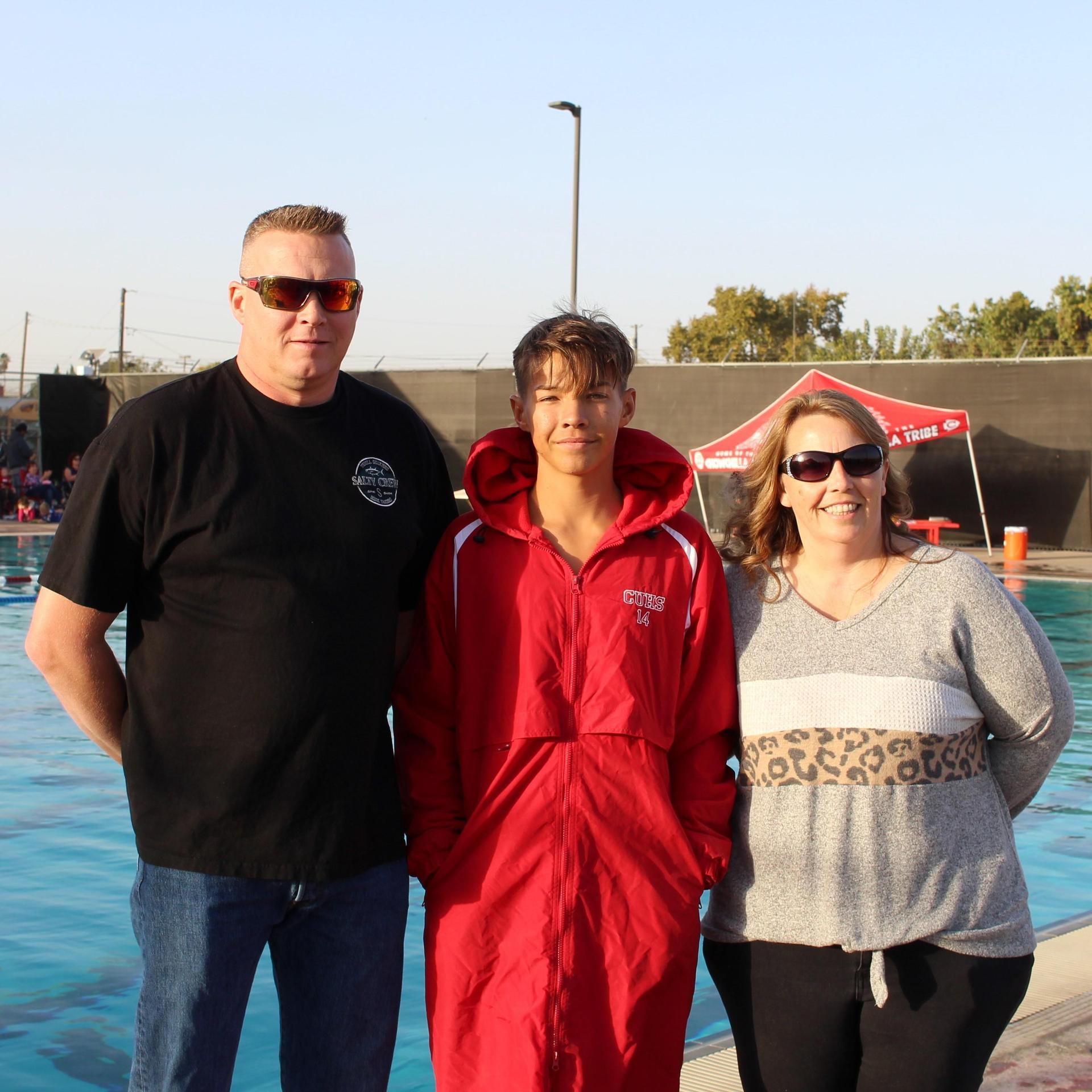 Ryan Basler and his parents.