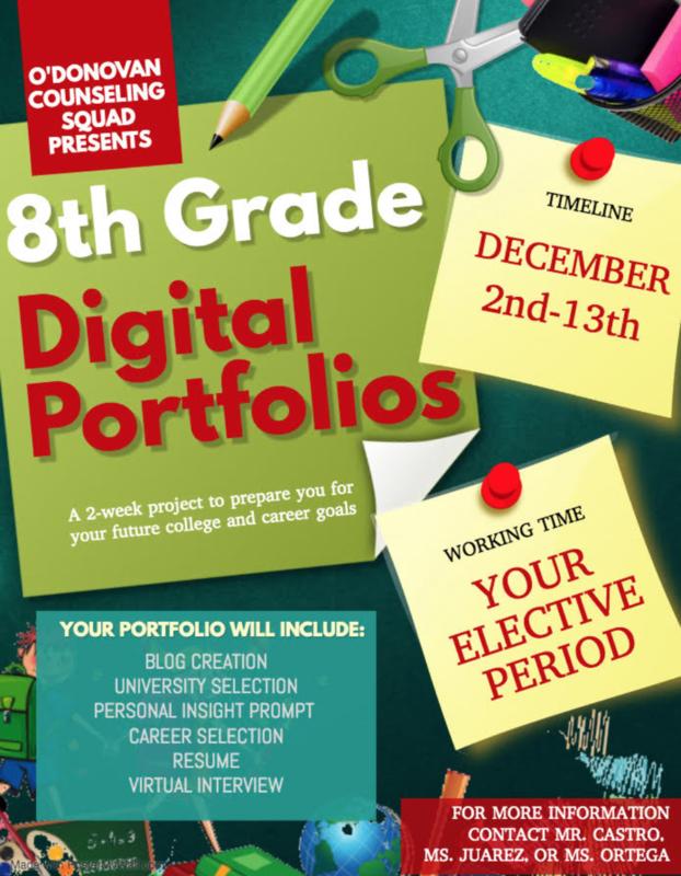 8th Grade Digital Portfolios (PROMOTION REQUIREMENT) Thumbnail Image