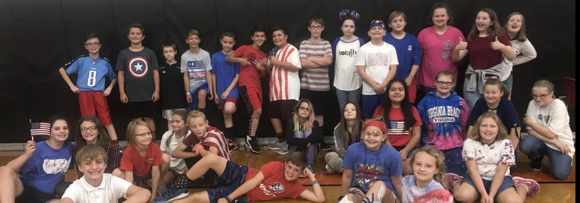 PE class on America Day
