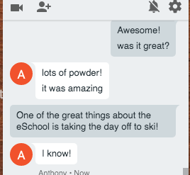 texting about the cool eschool