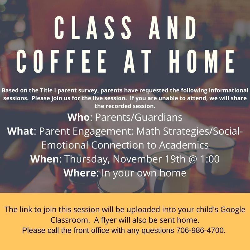 Class and Coffee invitation