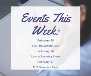 Events for the week of February 24, 2020