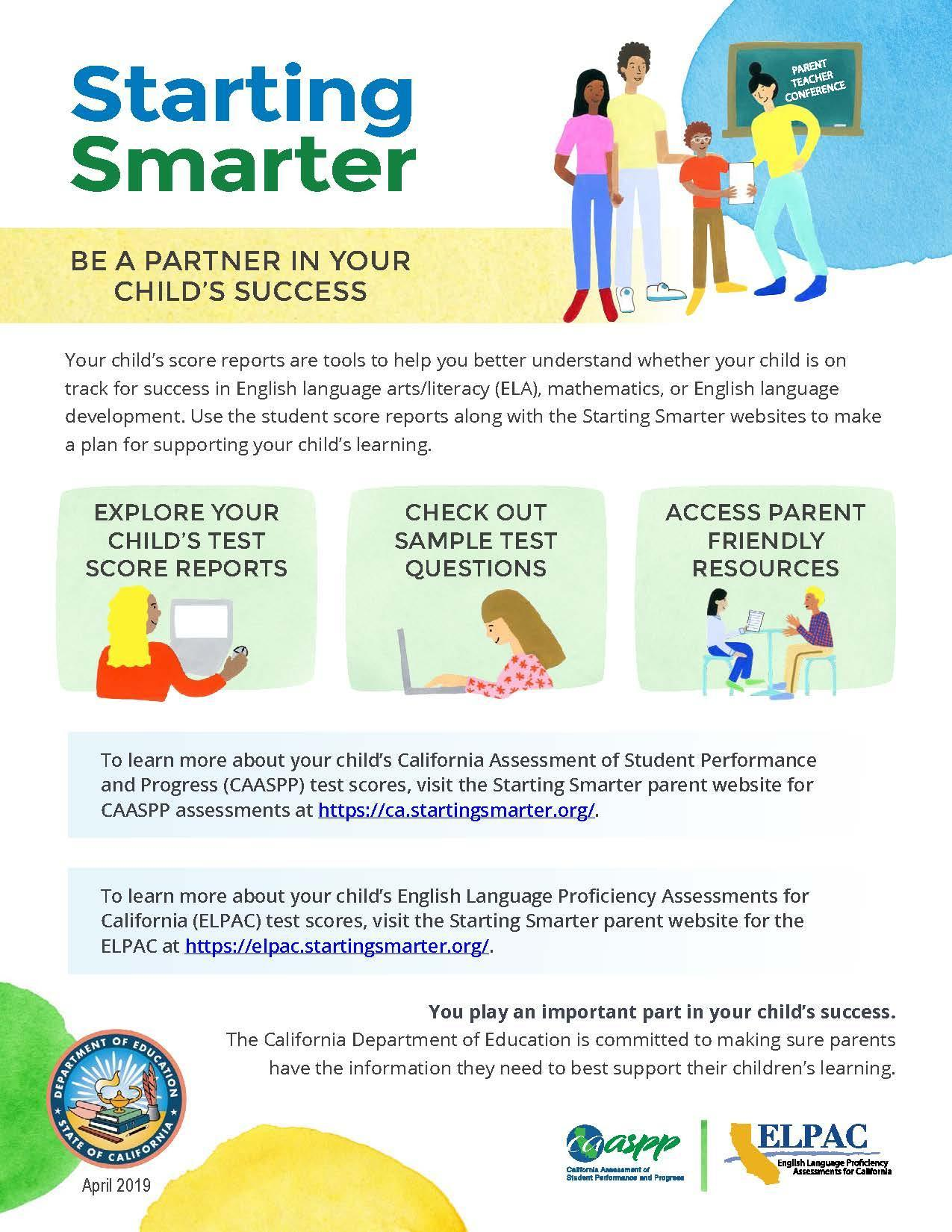 Starting Smarter Parent Flyer