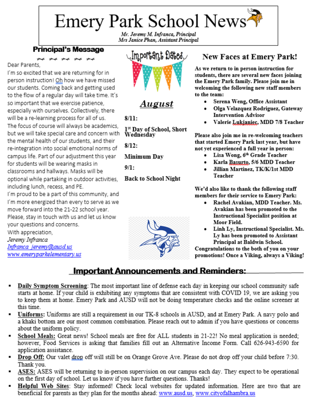 AUGUST NEWSLETTER! Featured Photo