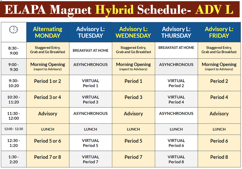 ELAPA Magnet Hybrid Schedule- ADV L Featured Photo