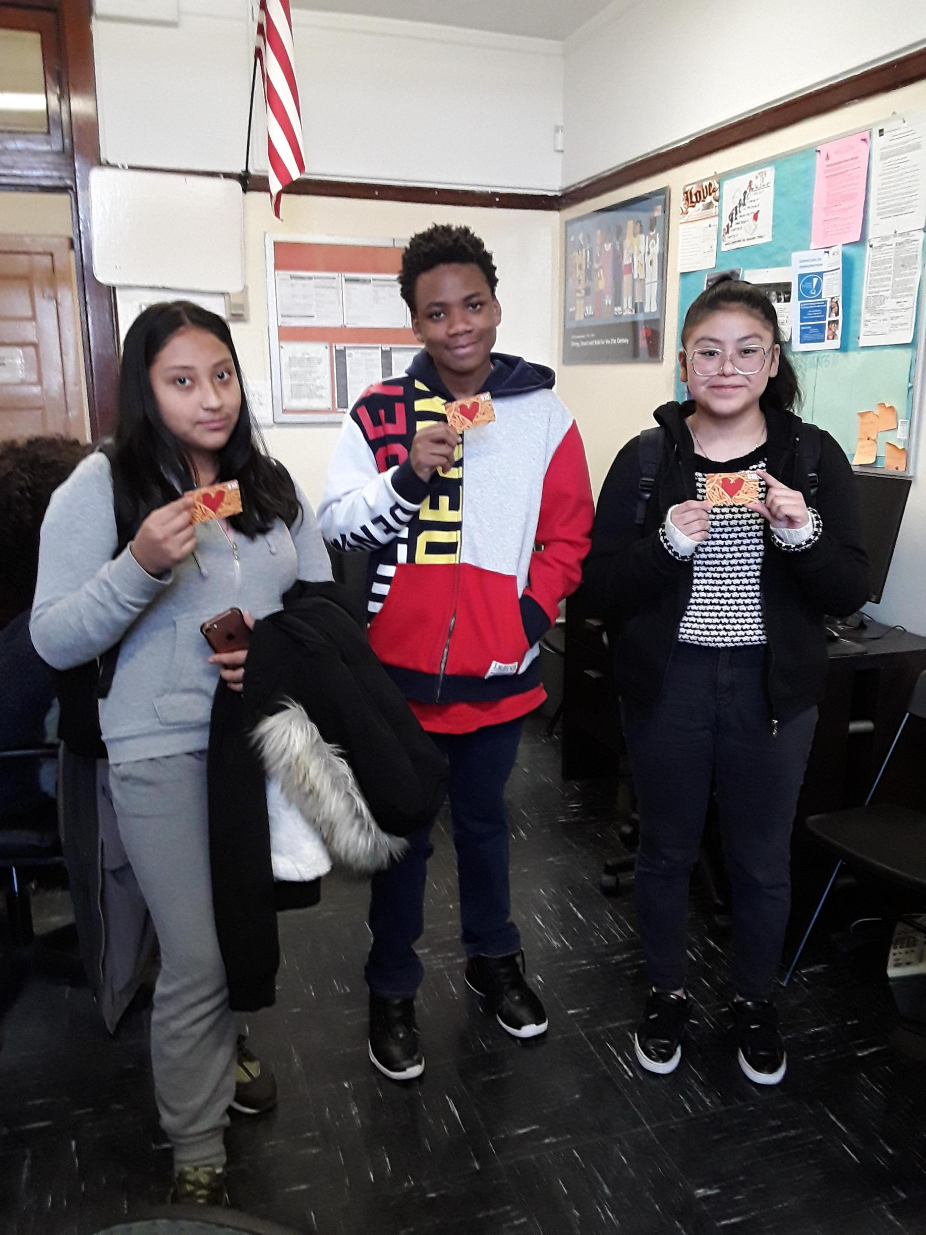 These students each won a $10 McDonalds gift card for improving her grades. Keep up the great work!