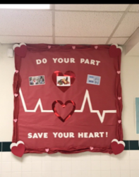 Travis Elementary Poster displays Do Your Part for your heart.