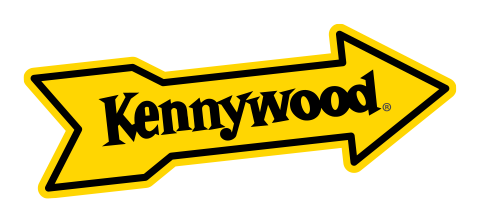 yellow arrow with Kennywood written in it - logo