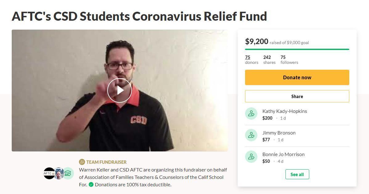AFTC Fundraiser earned $9,200