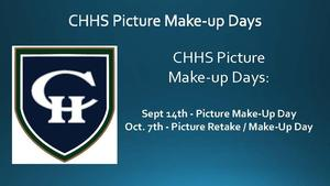 CHHS Picture Make-up Days